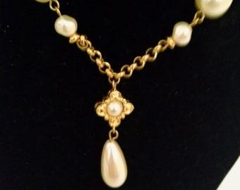 Liz Claiborne Necklace, Liz Claiborne Choker, Signed LC, Liz Claiborne Jewelry, Accessories, LC Necklace, Liz Necklace Chokers, LC choker