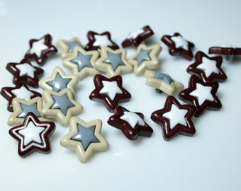 Star Buttons with Shank