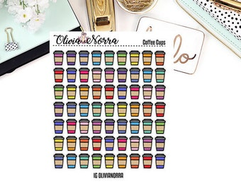 Coffee Cups Colored