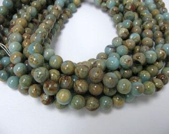 """10mm  16"""" long African opal beads"""
