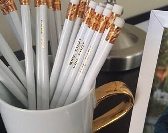 Custom Pencils, Pencil, Set of 12, Personalized Pencils, Teacher Gift, Engraved Pencil, School Pencils, Cross Word, Stocking Stuffers, Favor