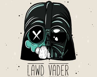 Lawd Vader - Original Art Print by Manic Lawd - Street Art - Star Wars Fan Art - Pop Art - Modern Contemporary Painting - Low Brow Art