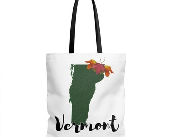 Vermont Maple Tote Bag - Vermont Bag - VT | reusable grocery bags groceries books
