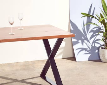Oakleigh - Reclaimed Messmate Timber table with X Table Legs