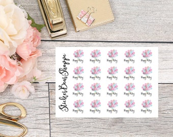 Birthday Stickers - For Erin Condren Life Planner or Happy Planner