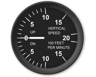 Vertical Speed Indicator Aviation Round Mousepad
