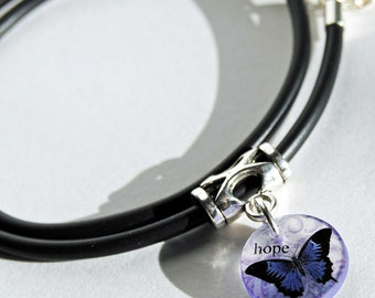 purple butterfly choker, hope wings, insperational, gifts for her,gifts under 25
