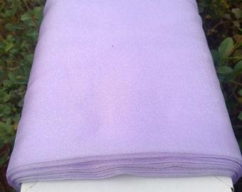 """Sparkle Organza Fabric - Lilac, 45"""" x 1 Yard"""