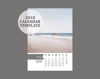 2018 calendar template 5x7 size loose sheet 12 month 5x7 size 2018 calendar template 12 month whimsical calendar downloadable file for photographers saigontimesfo