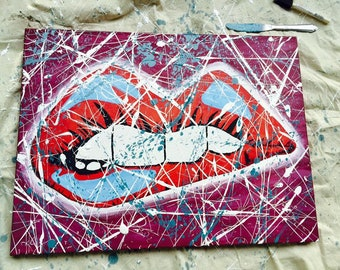 Pop Art PRINT of Original Acrylic Painting