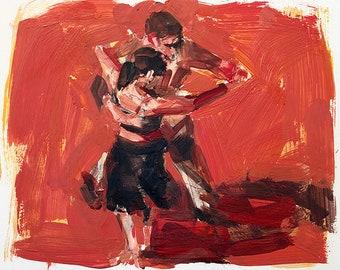 Tango on Red Orange