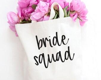 Bride Squad, Bridesmaid tote, bridesmaid bag, Wedding party, wedding party gift, Bridesmaid gift, Bachelorette tote, squad tote, squad
