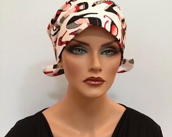 Sandra Scarf, A Women's Surgical Scrub Cap, Cancer Headwear, Chemo Head Scarf, Alopecia Hat, Head Wrap, Head Cover, Hair Loss Shoes N Shades