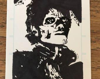 Michael Jackson Sketch Card