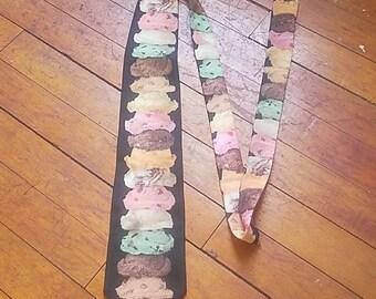 Vintage Ice Cream Cone Summer Fun Novelty Necktie
