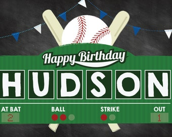 Baseball Birthday, Baseball Party, Home-ONE, Baseball Yard Sign, Baseball First Birthday, All Star Birthday, Baseball Invitation