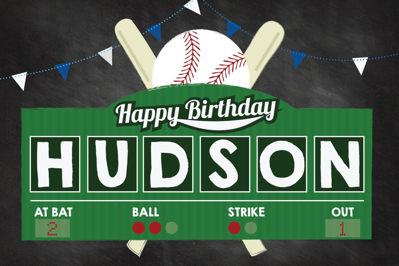 Baseball Birthday, Baseball Party, Home-ONE, Baseball Yard Sign ...