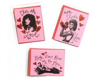 Cher, Burt Reynolds and Jane Fonda Valentine Cards