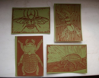 Beetle Postcards - Set of Four