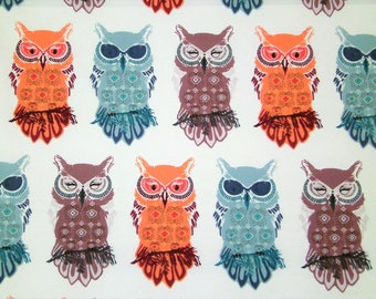 "0,5 m Printed fabric ""Nightfall - Owl"" 114 cm w.  Art Gallery"
