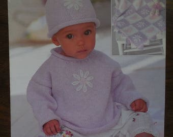 Knit Baby Care pattern Baby Sweater Blanket and Hat patterns