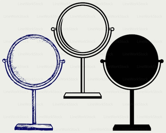 makeup mirror svg makeup mirror clipart mirror svg mirror rh etsy com mirror clipart transparent mirror clipart images