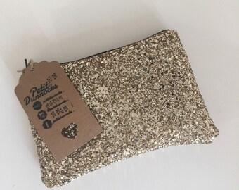 Gold glitter clutch, party bag, Gold clutch bag, evening clutch bag, wedding clutch bag, prom clutch bag, gold evening bag