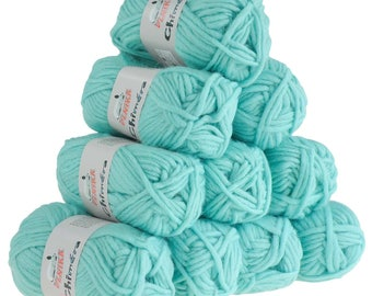 10 x 50g wool CHIMERA #438 turquoise, wool for knitted felt
