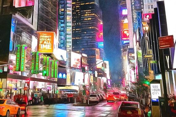 Impression New York Times Square peinture New York City big