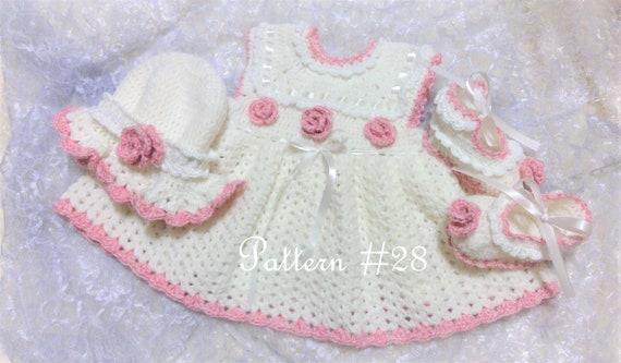 Little Rose Crochet Baby Dress Pattern Crochet Hat Pattern