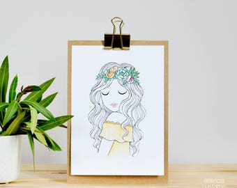 "A5 Print ""Juliette"" esencia custome"