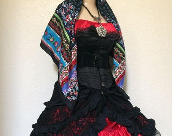 Small Adult Vintage Women's Day of the Dead Costume - Dia De Los Muertos Halloween Costume - Small