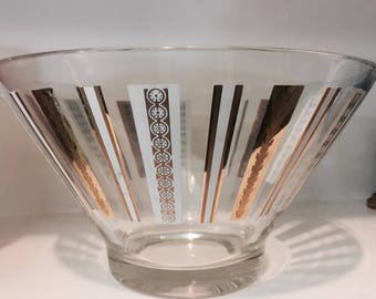 Mid Century Glass Serving Bowl