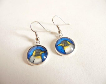 Glass Penguin Earrings