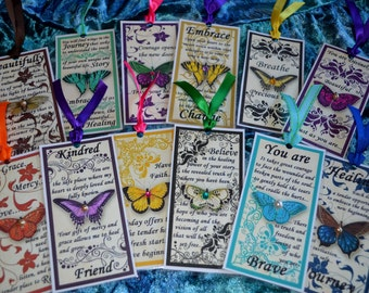 HEALING JOURNEY BOOKMARKS One of Customers Choice butterfly art therapy journal collage recovery survivor inspirational abuse trauma hope