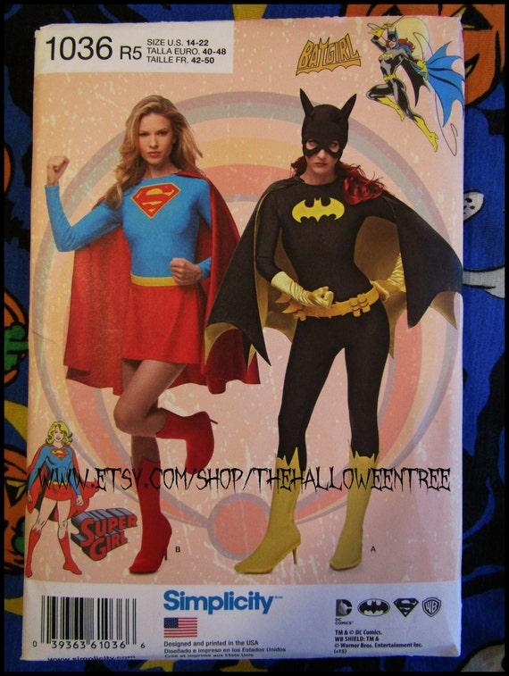 Einfachheit 1036 Batgirl oder Supergirl Schnittmuster Damen