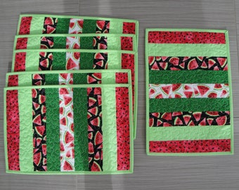 Watermelon Placemats - set of 6