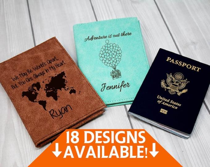 Personalized Passport Cover, Passport Holder, Passport Wallet, Passport Case, Engraved Passport, Leather Passport, Custom Travel Book