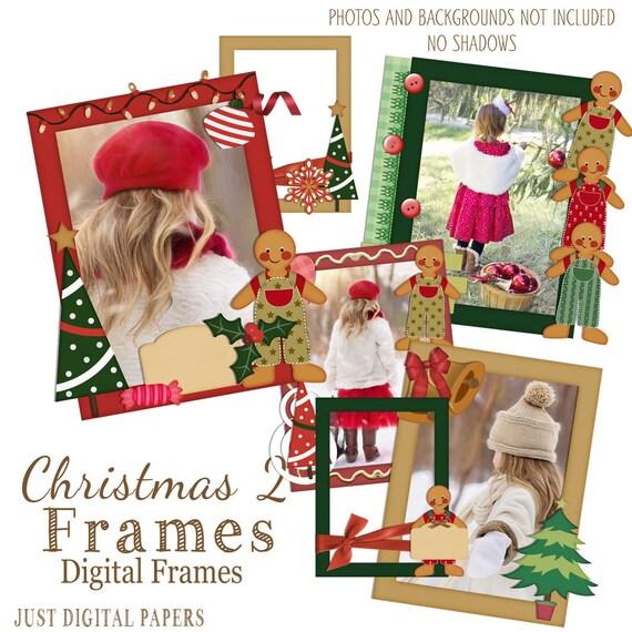 Christmas Premade Frames Digital Frames psd Frames PSD