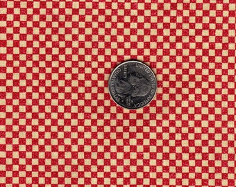 Red and Ecru Check Bunny Patch for Fabriquilt OOP Quilt Fabric