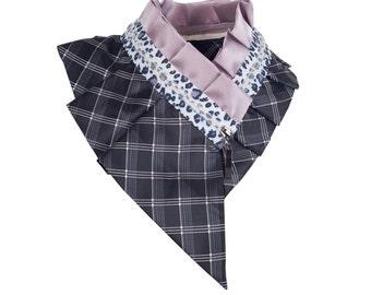 Collar necklace, unique accessory, zipper collar, silk collar, only one piece #174