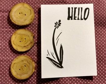 Hello Lavender Flat Notecard Set