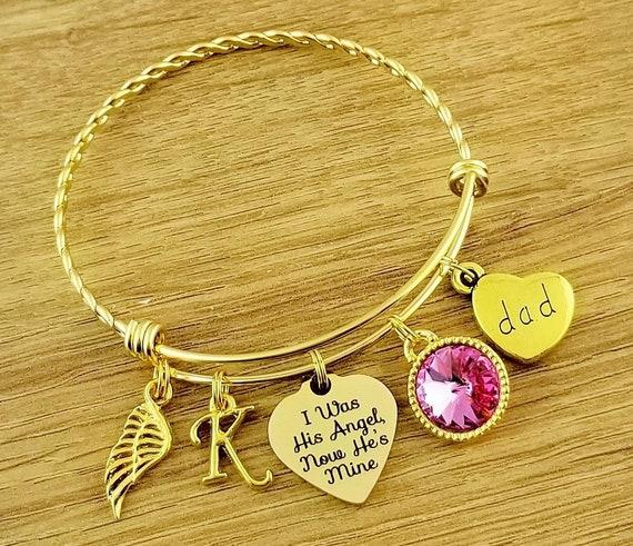 Gold Sympathy Bracelet Sympathy Gift In Memory of Dad Memorial Bracelet Loss of Dad Remembrance Bracelet Remembrance Jewelry Loss of Father