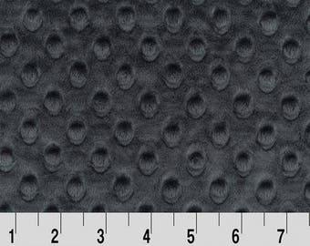 Minky (Dark Grey) - Minky Dots - Cuddle Dimple - Shannon Fabrics - 1 Yard