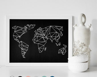 6 colors - A3 POSTER geometrical world Artprint