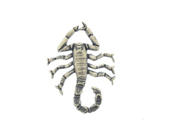 Scorpion charm , brass, made in USA, 47mm, sold 2 each 15351AG