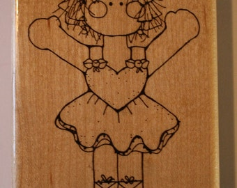 Ballerina girl rubber stamp by CTMH/DOTS