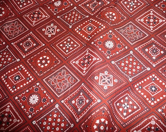 VIP Cranston Cotton Red Bandana Print Fabric