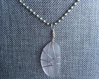 Rare Lavender Sea Glass Pendant