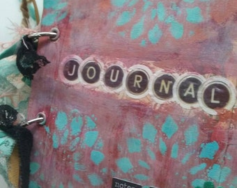 Junk journal. Smash book. Mixed media journal. Price includes USA shipping.